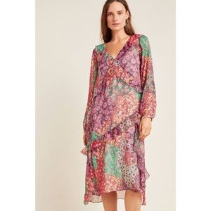 Anthropologie Sirena Ruffled Tunic Dress by Maeve